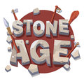Stone age writing with prehistoric wooden tools Royalty Free Stock Photo