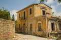 Stone ancient house in paphos cyprus Stock Photos