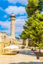 stone arcade on the way to the Al Aqsa mosque in Jerusalem, Israel Royalty Free Stock Photo