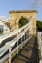 Stone arch of old suspension bridge, Marlow Royalty Free Stock Photo