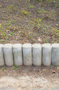 Stone barrier close up of an Royalty Free Stock Image