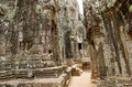 Stone Bayon Temple, Cambodia Royalty Free Stock Photo