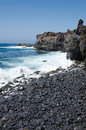 Stone beach on Lanzarote Royalty Free Stock Photo