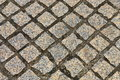 Stone block paving background Stock Images