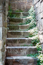 Stone blocks stairs Royalty Free Stock Photo