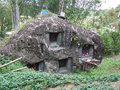 Stone boulder graves at bori parinding tana toraja in in south sulawesi indonesia Royalty Free Stock Photography
