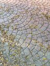 Stone brick footpath Royalty Free Stock Photo