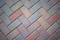 Stone Brick Patio Pavers, Colorful Royalty Free Stock Image