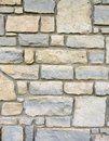 Stone brick wall exterior with mortar Royalty Free Stock Photo