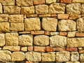 Stone and bricks background Stock Photography