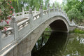 Stone bridge in beijing yuanmingyuan park Stock Photo