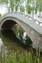 Stone bridge in beijing yuanmingyuan park Stock Image