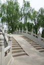 Stone bridge in beijing yuanmingyuan park Stock Images