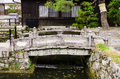 Stone bridge japanese style in kiyomizu dera temple kyoto japa japan Royalty Free Stock Photos