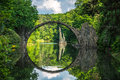 Stone bridge in kromlauer park Royalty Free Stock Photo
