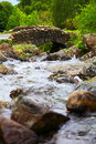 Stone bridge in lake district traditional over river national park cumbria england Stock Images