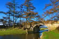 Stone bridge over canal Stock Photography