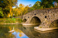 Stone bridge over a creek in Adams County, Pennsylvania. Royalty Free Stock Photo