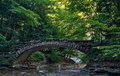 Stone bridge over a stream in Stony Brook State Park Royalty Free Stock Photo
