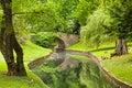 Stone bridge in parc de la boverie in liege wallonia belgium Royalty Free Stock Images