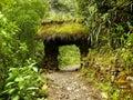 Stone Bridge on the pathway to Gocta Royalty Free Stock Photo