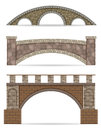 Stone bridge stock vector illustration Royalty Free Stock Photo