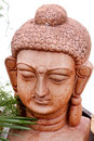 Stone budhha beautiful shot of head carved from single Stock Images