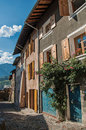 Stone building in the medieval village of Conflans Royalty Free Stock Photo