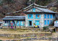 Stone Building at remote Lodge in Himalaya Mountains