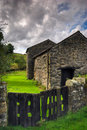 Stone built barn Royalty Free Stock Photos