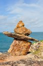 Stone Cairn Royalty Free Stock Photo