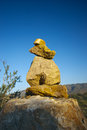Stone Cairn for Hikers Royalty Free Stock Photo