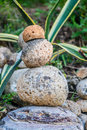 Stone cairns cairn as a metaphor of calm and peace Royalty Free Stock Photo