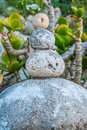 Stone cairns cairn as a metaphor of calm and peace Stock Images