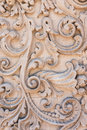 Stone carved decoration on wall santa barbara california Stock Photography