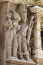 Stone carved erotic bas relief in hindu temple in khajuraho ind india unesco world heritage site Royalty Free Stock Photography