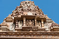 Stone carved sculptures on kandariya mahadeva temple khajuraho erotic western temples of madhya pradesh india built around Stock Images