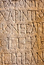 Stone carved writings Royalty Free Stock Photo