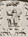 Stone carving. St Demetrius Cathedral (1193-1197) Royalty Free Stock Images