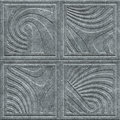 Stone carving texture with geometric pattern