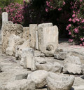 Stone castle artifacts Limassol Castle Cyprus Royalty Free Stock Photography