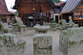 The stone chairs of ambarita where tribal elders held council samosir indonesia Royalty Free Stock Images