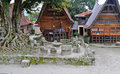 The stone chairs of ambarita where tribal elders held council samosir indonesia Stock Photo