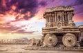 Stone chariot in Hampi Royalty Free Stock Photo