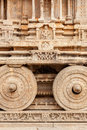 Stone chariot in Vittala temple. Hampi, India Stock Image