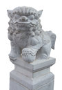 Stone Chinese Lion Stone With Clipping Path Royalty Free Stock Photo