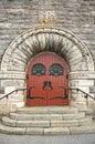 Stone church entrance Royalty Free Stock Photo
