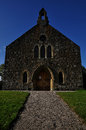 Stone church in lairg, scotland Royalty Free Stock Photo