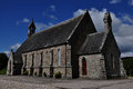 Stone church in Lairg village, Scotland Royalty Free Stock Photo