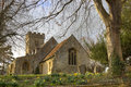 Stone church at springtime Royalty Free Stock Photo